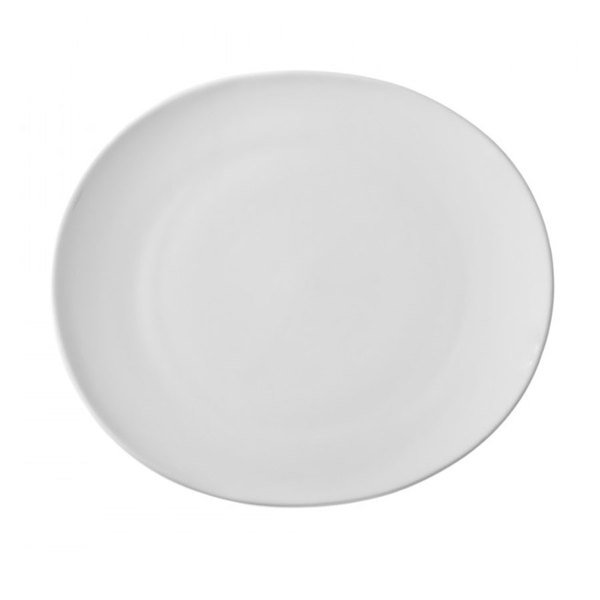 """10 Strawberry Street RVL0005 Royal Oval 7"""" White Porcelain Bread and Butter Plate - 24/Case"""