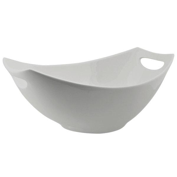 10 Strawberry Street HLD-13RECHNDBWL Highland 2 Qt. White Rectangular Porcelain Bowl - 8/Case