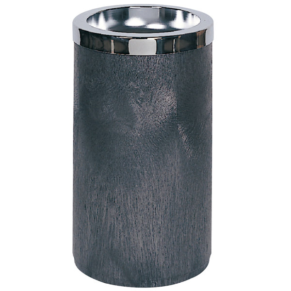 Rubbermaid FG258500BLA Classic Black Floor Smoking Urn with Metal Ashtray Top