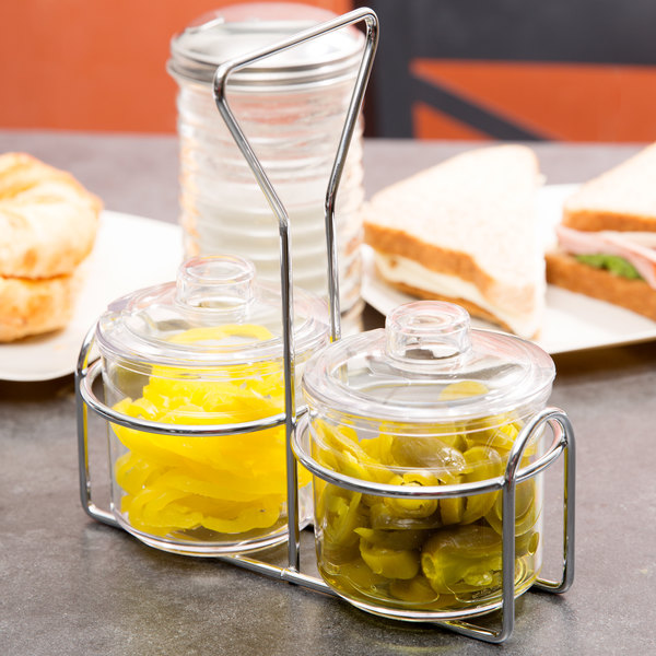 2 Hole Wire Condiment Holder Main Image 3
