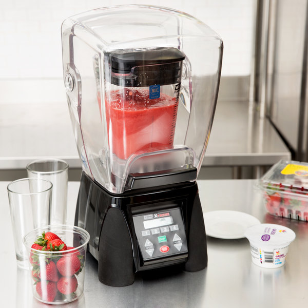 Waring MX1500XTXP Xtreme 3 1/2 hp Commercial Blender with Programmable Keypad & LCD Screen, Adjustable Speed, and 48 oz. Copolyester Container Main Image 7