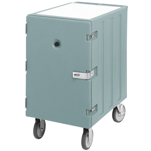 """Cambro 1826LTCSP401 Camcart Slate Blue Mobile Cart for 18"""" x 26"""" Sheet Pans and Trays with Security Package"""