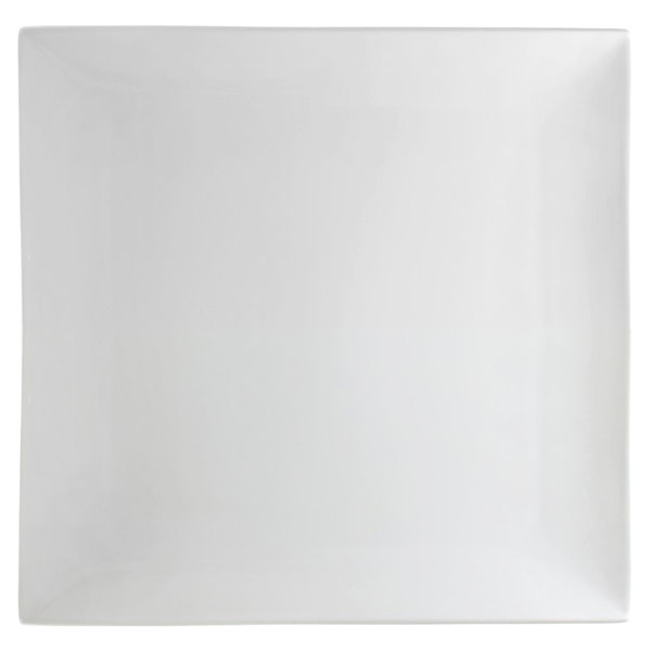 """10 Strawberry Street WTR-11CPSQ Whittier 10 5/8"""" White Square Porcelain Coupe Plate - 8/Case"""