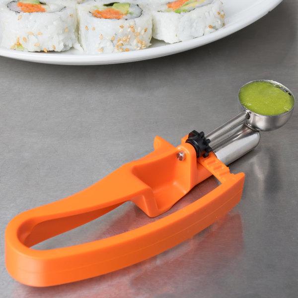 Vollrath 47404 Orange #100 Squeeze Disher Portion Scoop - .33 oz.