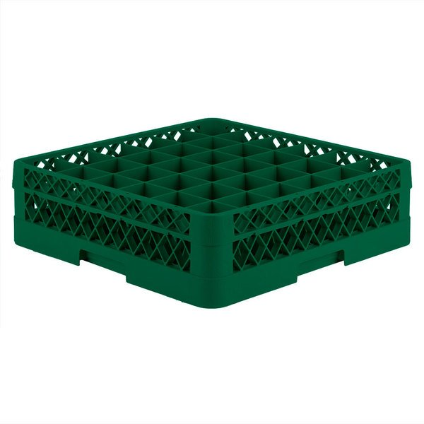 "Vollrath TR7C Traex® Full-Size Green 36-Compartment 4 13/16"" Glass Rack Main Image 1"