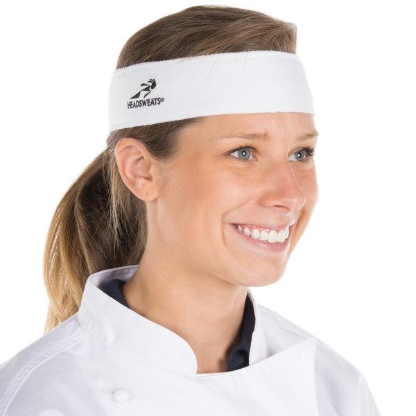 Headsweats 8801-801 White High-Performance Fabric Headband Main Image 1