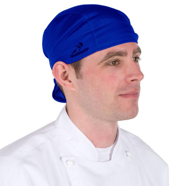 Headsweats 8807-804 Royal Blue Shorty Chef Cap Main Image 1