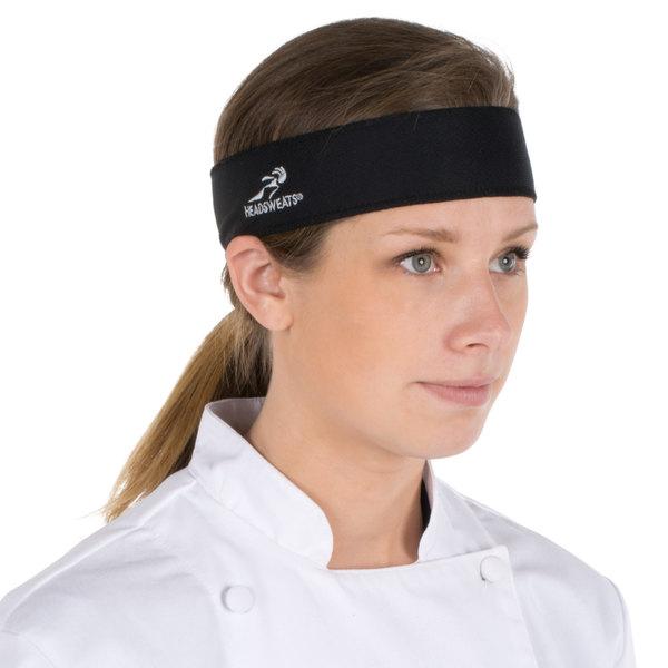 Headsweats 8801-802 Black High-Performance Fabric Headband Main Image 1