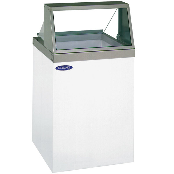 "Nor-Lake HF040-WWG/0 Nova 27"" Straight Glass Ice Cream Dipping Cabinet"