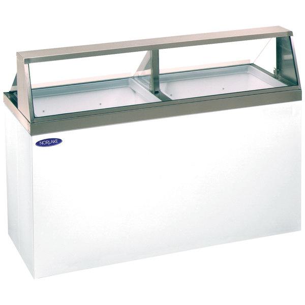 "Nor-Lake HF160-WWG/0L Nova 69"" Low Glass Ice Cream Dipping Cabinet Main Image 1"