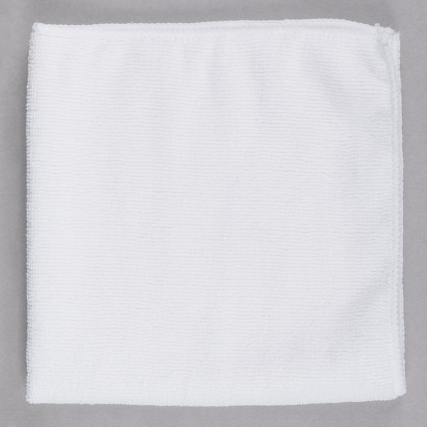 Streak Free Factory Microfiber Cleaning Cloth 16 x 16 inch White 10