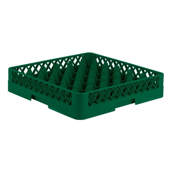 """Vollrath TR7 Traex® Full-Size Green 36-Compartment 3 1/4"""" Glass Rack Main Image 1"""