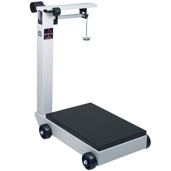 Cardinal Detecto 854F100PK 1000 lb. / 500 kg. Portable Mechanical Floor Scale, Legal for Trade