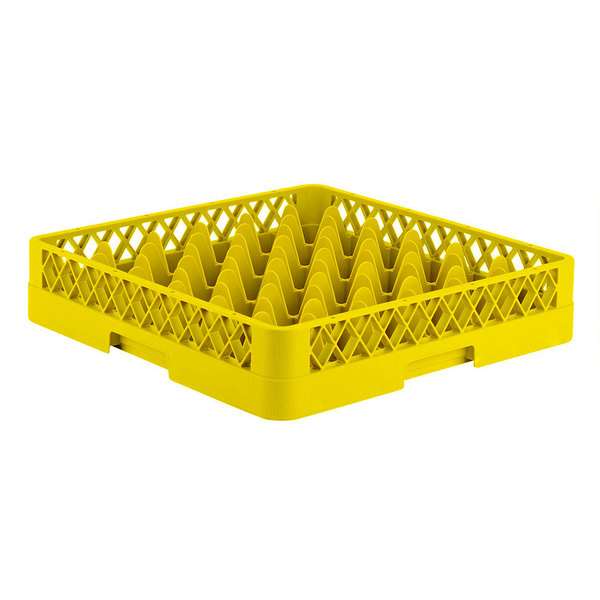 """Vollrath TR7 Traex® Full-Size Yellow 36-Compartment 3 1/4"""" Glass Rack"""