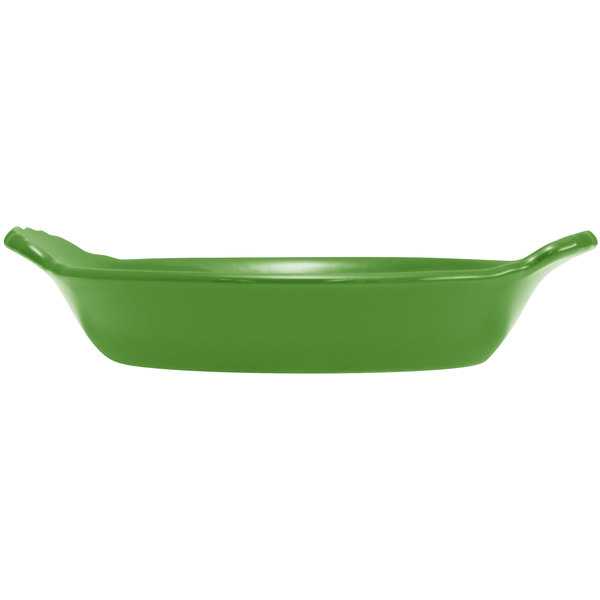 Hall China 30433324 Shamrock 8 oz. Colorations Round Au Gratin Baking Dish - 24/Case