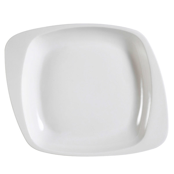"CAC WH-120 White Pearl 12 1/2"" New Bone White Porcelain Soup Bowl / Plate - 12/Case"