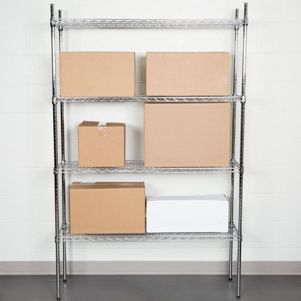 "Regency 14"" x 48"" NSF Chrome Shelf Kit with 74"" Posts"