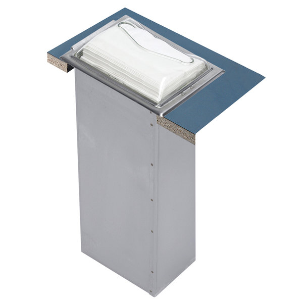 San Jamar H2000SC In-Counter Minifold Napkin Dispenser - Satin Chrome Main Image 1