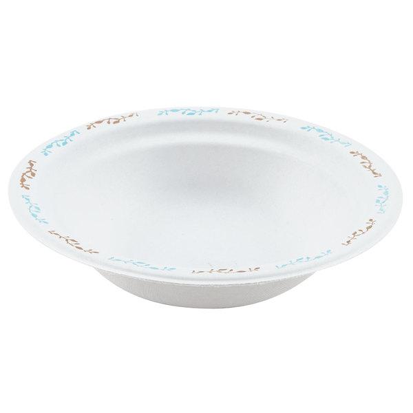 Huhtamaki Chinet 22521 12 oz. Molded Fiber Round Bowl with Vines Design  - 125/Pack