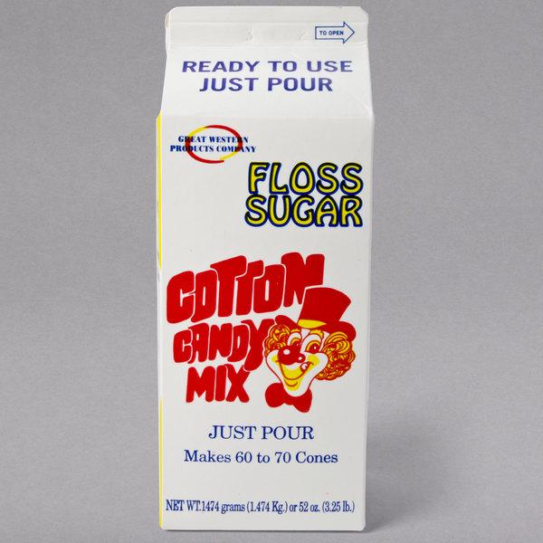 Great Western 1/2 Gallon Carton Strawberry Cotton Candy Floss Sugar
