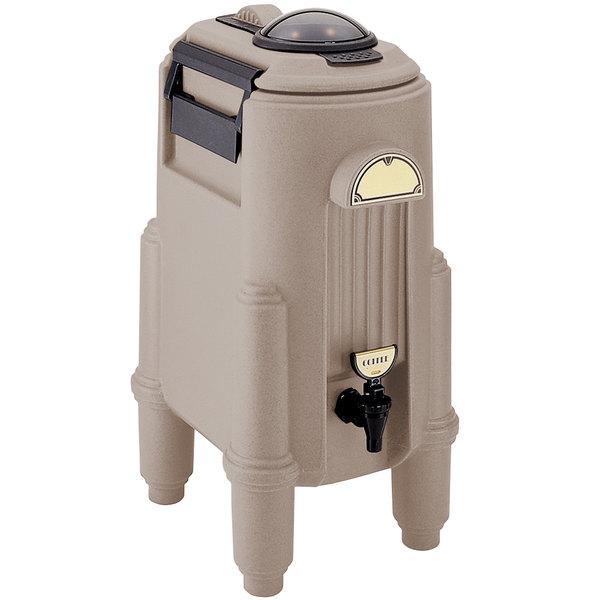 Cambro CSR5417 Camserver 5 Gallon Dark Taupe Insulated Beverage Dispenser