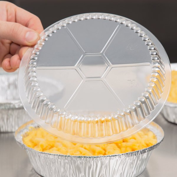 "Choice 7"" Plastic Dome Lid - 500/Case"