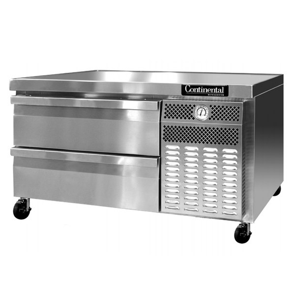 """Continental Refrigerator DL48G 48"""" Two Drawer Refrigerated Chef Base"""