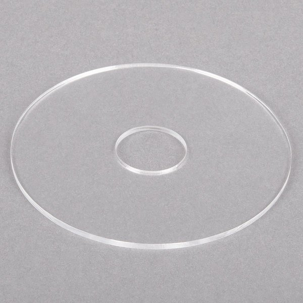 """Noble Products 4 1/4"""" Clear Plastic Disk for Label Dispenser Main Image 1"""