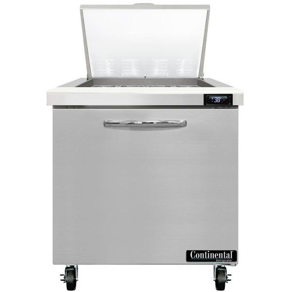 "Continental Refrigerator SW32-12M 32"" 1 Door Mighty Top Refrigerated Sandwich Prep Table"