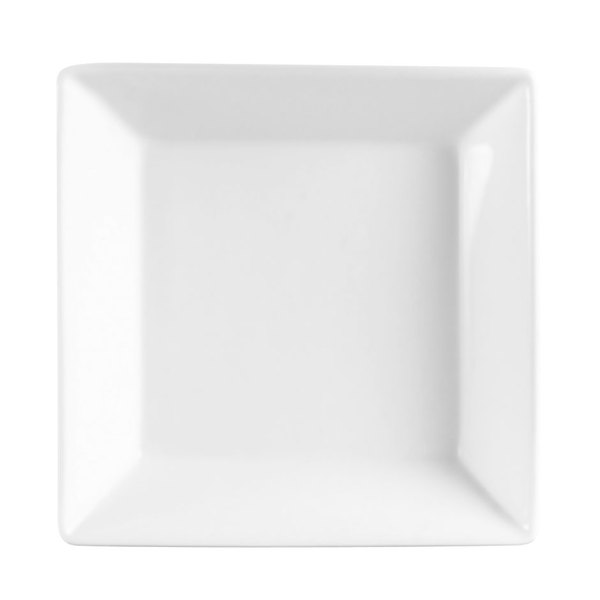 "8"" Bright White Square China Bowl - 24/Case"