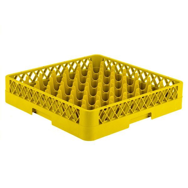 """Vollrath TR9 Traex® Full-Size Yellow 49-Compartment 3 1/4"""" Glass Rack Main Image 1"""