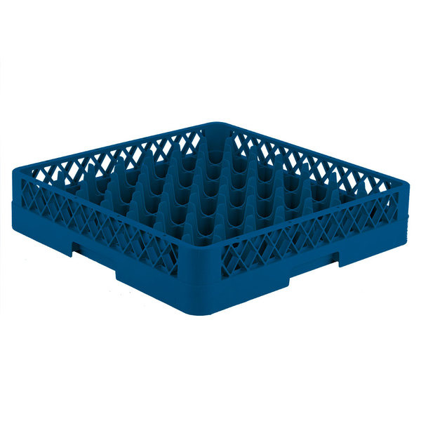 "Vollrath TR9 Traex® Full-Size Royal Blue 49-Compartment 3 1/4"" Glass Rack"