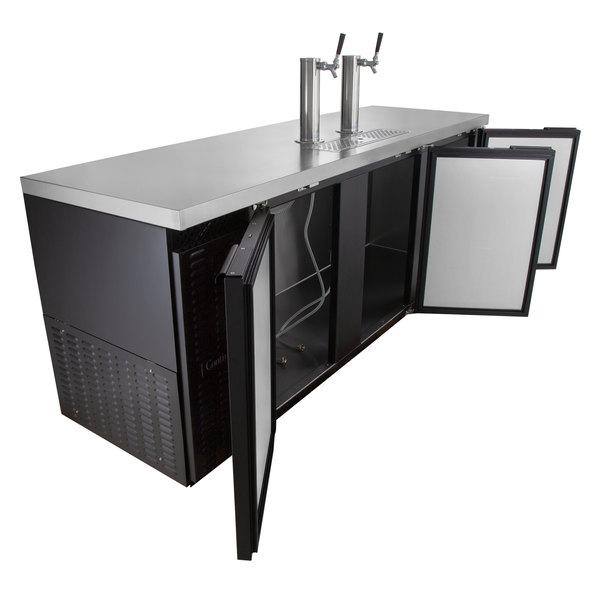 Continental Refrigerator KC90 Double Tap Kegerator Beer Dispenser - Black, (5) 1/2 Keg Capacity
