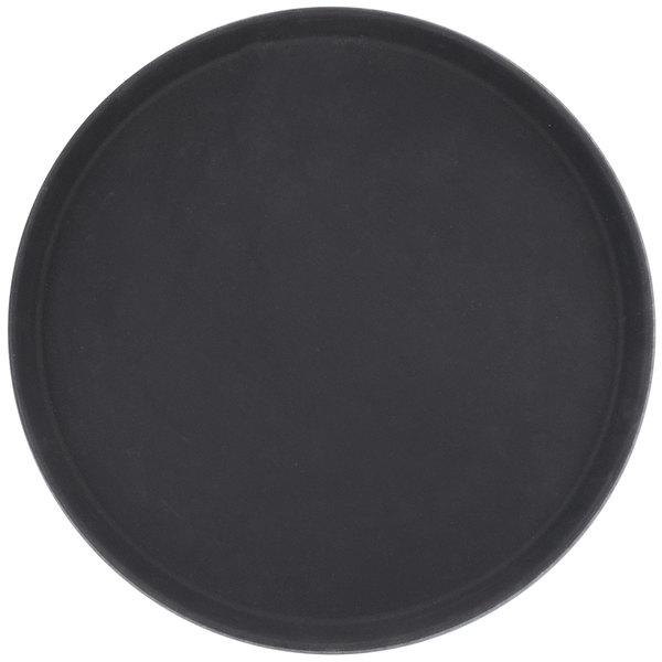 Round 16 inch Black Non-Skid Serving Tray