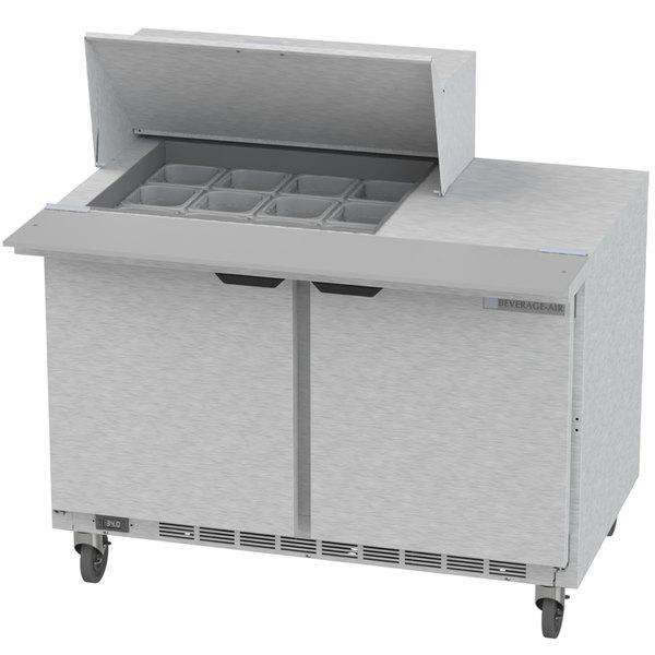 """Beverage-Air SPE48HC-12M Elite Series 48"""" 2 Door Mega Top Refrigerated Sandwich Prep Table"""