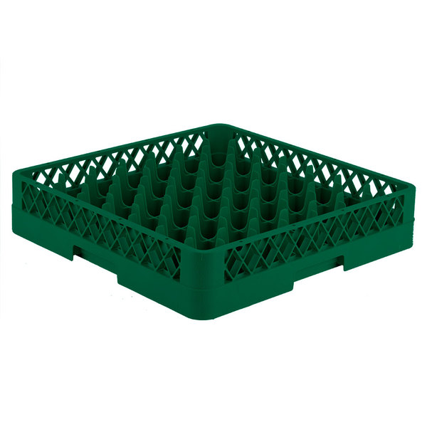 """Vollrath TR9 Traex® Full-Size Green 49-Compartment 3 1/4"""" Glass Rack"""