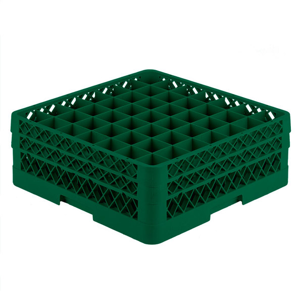 """Vollrath TR9EE Traex® Full-Size Green 49-Compartment 6 3/8"""" Glass Rack"""