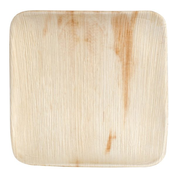 Eco-gecko Sustainable 10 inch Square Palm Leaf Plate 25 / Pack