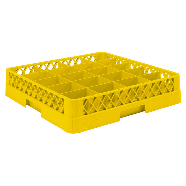 """Vollrath TR5 Traex® Full-Size Yellow 20-Compartment 3"""" Cup Rack"""