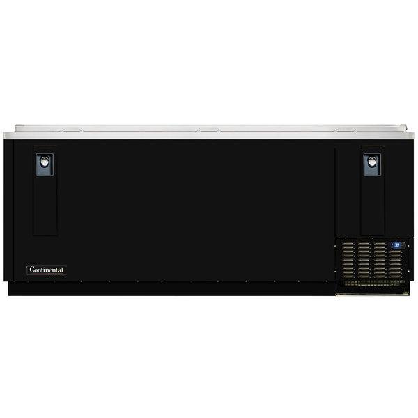 "Continental Refrigerator CBC95 95"" Black Horizontal Bottle Cooler Main Image 1"