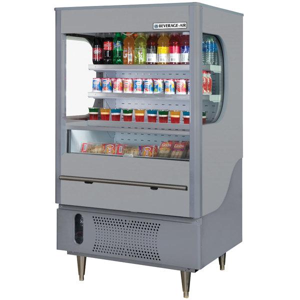 """Beverage-Air VM7-1-G VueMax 35"""" Gray Air Curtain Merchandiser"""