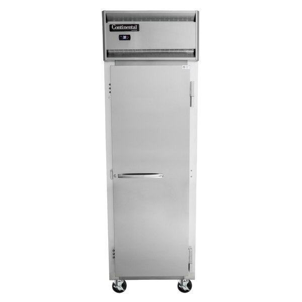 "Continental Refrigerator 1F 26"" Solid Door Reach-In Freezer"
