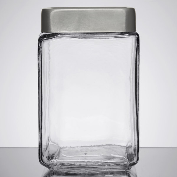 Anchor Hocking 85754 15 Qt Stackable Glass Jar with Brushed