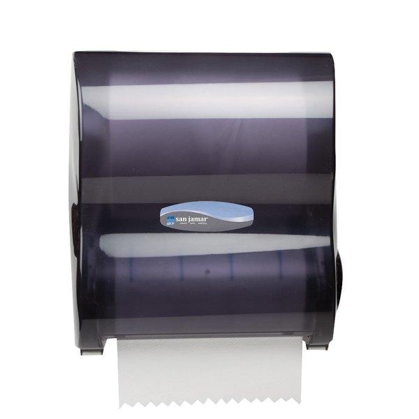San Jamar T7100TBK Simplicity Mechanical Hands Free Paper Towel Dispenser - Black Pearl