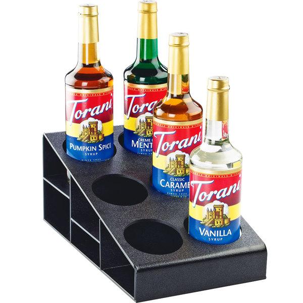 "Cal-Mil 2056 Classic Black 3 Tier Bottle Organizer - 8 1/2"" x 14 3/4"" x 6 1/4"""