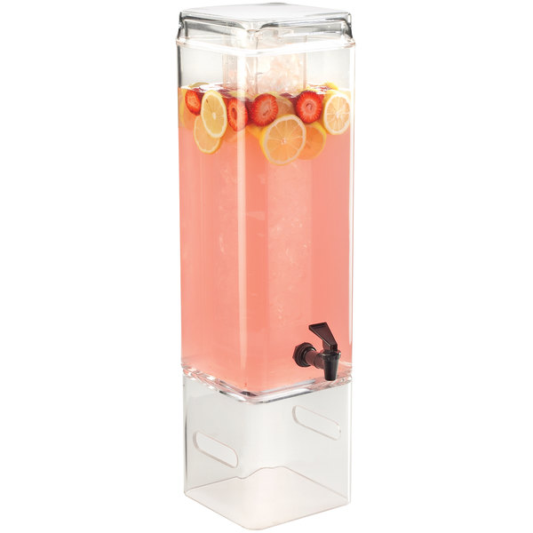 Cal-Mil 1112-5AINFH Classic 5 Gallon Acrylic Beverage Dispenser with Infusion Chamber and Side Handles Main Image 5