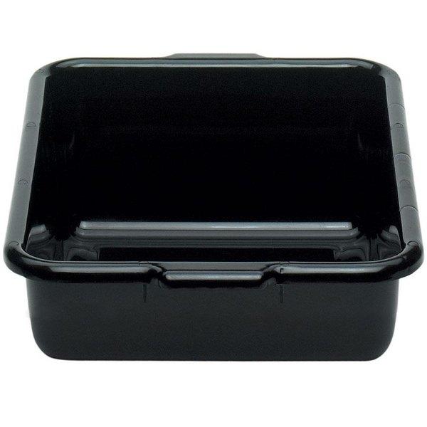 """Cambro 21155CBR110 Regal Cambox 21"""" x 15"""" x 5"""" Black Plastic Bus Box Main Image 1"""