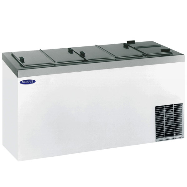 "Nor-Lake FF204WVS/0 Nova 67"" Flip Lid Ice Cream Dipping Cabinet Main Image 1"