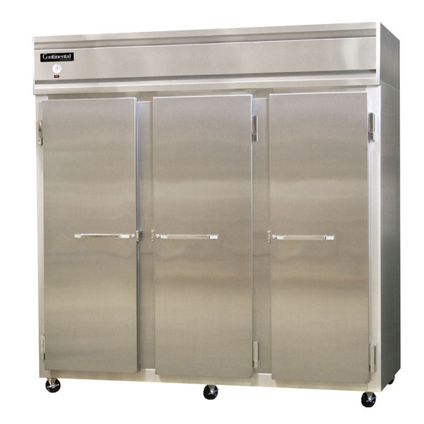"Continental Refrigerator 3FS 78"" Solid Door Shallow Depth Reach-In Freezer Main Image 1"