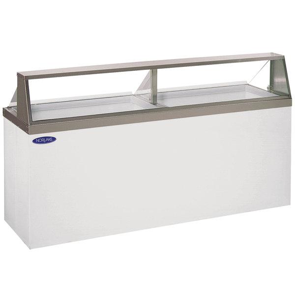 "Nor-Lake HF230-WWG/0 Nova 91"" Straight Glass Ice Cream Dipping Cabinet Main Image 1"